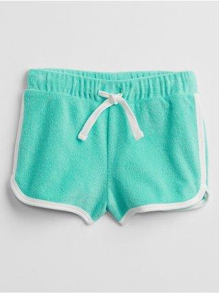 Modré holčičí dětské kraťasy knit dolphin shorts GAP