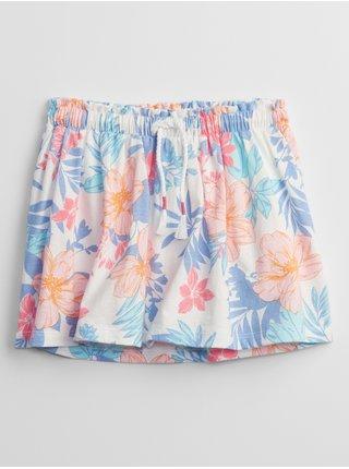 Barevná holčičí dětská sukně print knit skorts GAP