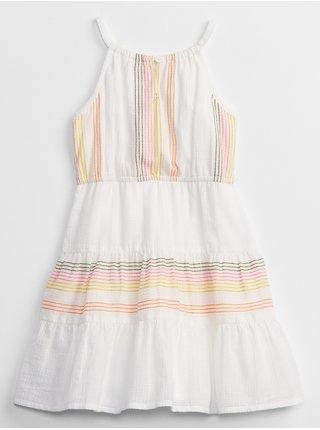 Bílé holčičí dětské šaty embr dress GAP