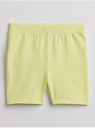 Žluté holčičí dětské kraťasy mix and match bike shorts GAP