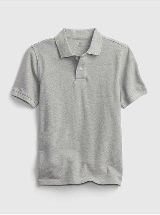 Šedé klučičí dětské polo tričko organic catton GAP