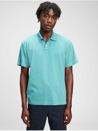 Modré pánské polo tričko organic cotton GAP