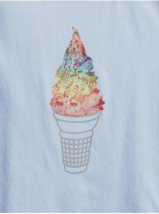 Modré holčičí dětské tričko interactive graphic t-shirt GAP