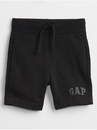Černé klučičí dětské kraťasy GAP Logo pull-on shorts