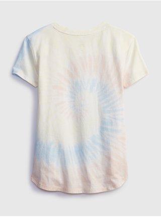Barevné holčičí dětské tričko interactive graphic t-shirt GAP