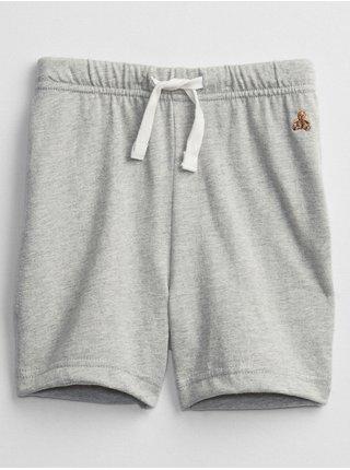 Šedé klučičí dětské kraťasy brannan bear pull-on shorts GAP