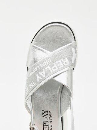 Sandále pre ženy Replay - strieborná