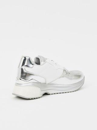 Dámské tenisky v bílo-stříbrné barvě Replay