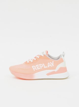 Růžové dámské tenisky Replay