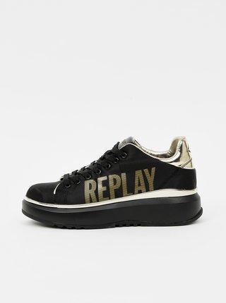 Černé dámské tenisky na platformě Replay