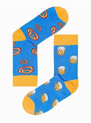 Pánské ponožky U169 - nebesky modrá