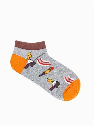 Pánské ponožky U174 - šedá
