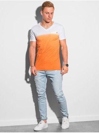 Pánské tričko bez potisku S1380 - oranžová