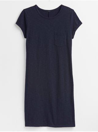 Modré dámské šaty t-shirt dress GAP