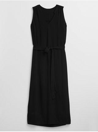 Černé dámské šaty zen maxi GAP