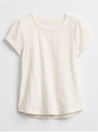Béžové holčičí dětské tričko mix and match swing t-shirt GAP