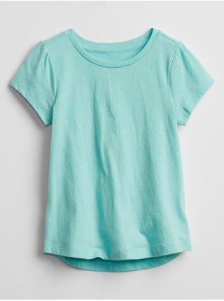 Modré holčičí dětské tričko mix and match swing t-shirt GAP