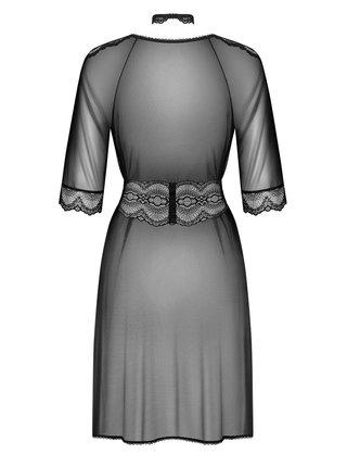 Sexy župan Lucita peignoir - Obsessive černá
