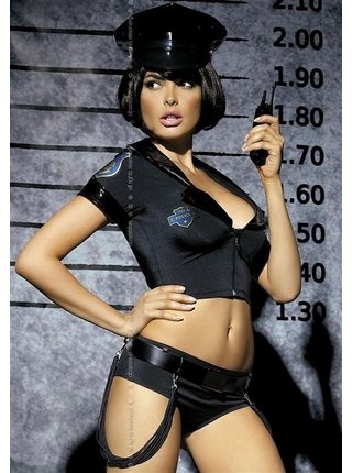 Sexy kostým Police set - Obsessive černá
