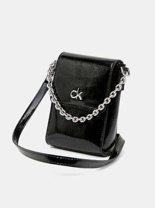 Čierna malá crossbody kabelka Calvin Klein