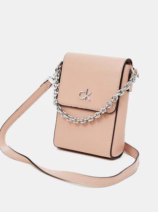 Růžová malá crossbody kabelka Calvin Klein