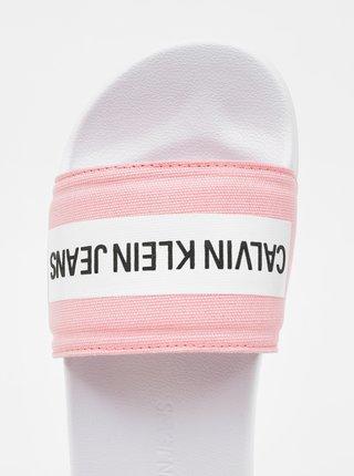 Ružové dámske šľapky Calvin Klein