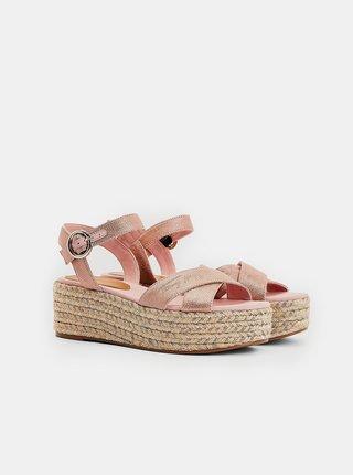Ružové dámske sandálky na platforme Tommy Hilfiger