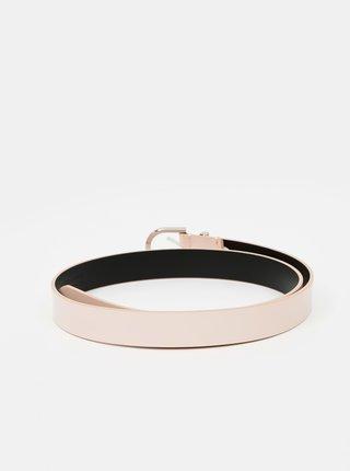 Svetloružový dámsky kožený opasok Calvin Klein