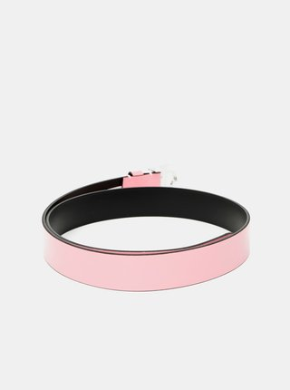 Růžový dámský kožený pásek Calvin Klein