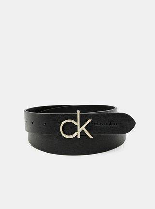 Čierny dámsky kožený opasok Calvin Klein