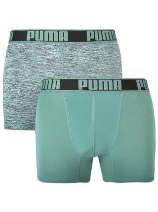 2PACK pánské boxerky Puma sportovní zelené