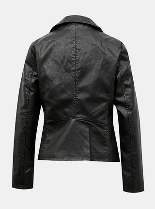 Čierna koženková bunda ONLY Melisa