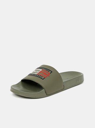 Khaki pánské pantofle Tommy Hilfiger