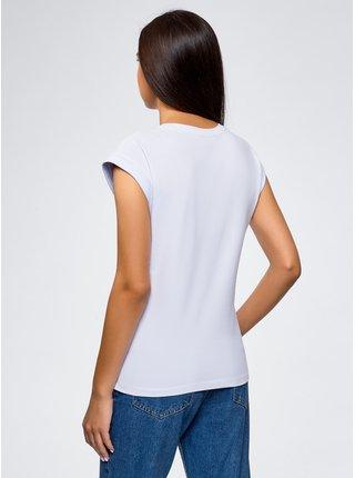 Tričko bavlněné s výšivkou OODJI