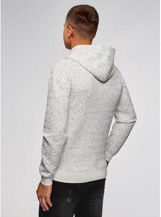 Mikina s kapucí z materiálu s výraznou texturou s kapsou OODJI