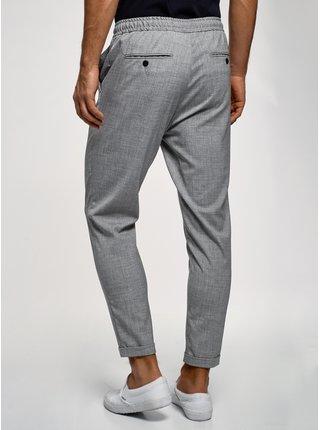Kalhoty se zavazováním a ohrnutými nohavicemi OODJI