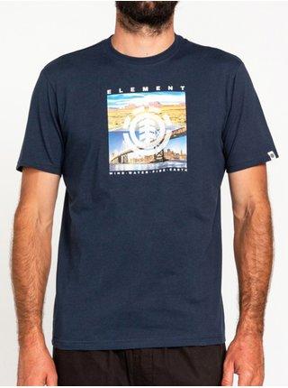 Element PEORIA ECLIPSE NAVY pánské triko s krátkým rukávem - modrá