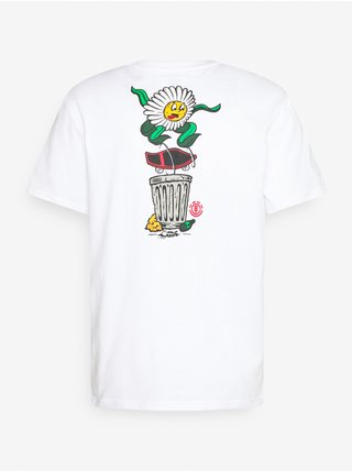 Element CANFIELD OPTIC WHITE pánské triko s krátkým rukávem - bílá