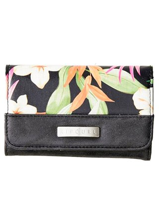 Rip Curl NORTH SHORE MID black dámská značková peněženka - černá
