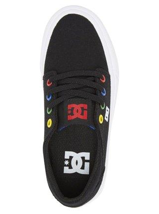 Dc TRASE BLACK/MULTI/WHITE letní boty dětské - černá