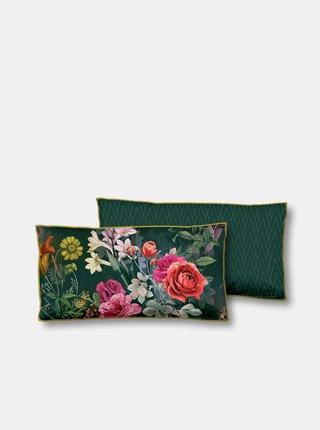 Zelený květovaný dekorativní polštář s výplní Home Descanso Simone