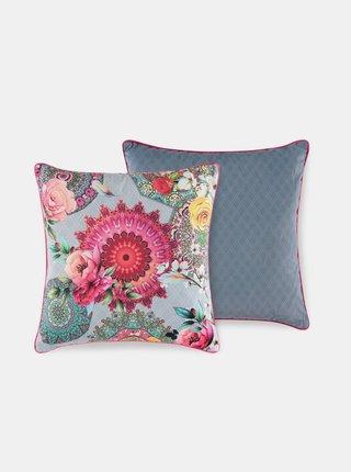 Šedý květovaný dekorativní polštář s výplní Home Hip Siara