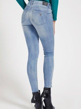 Světle modré dámské skinny fit džíny Guess