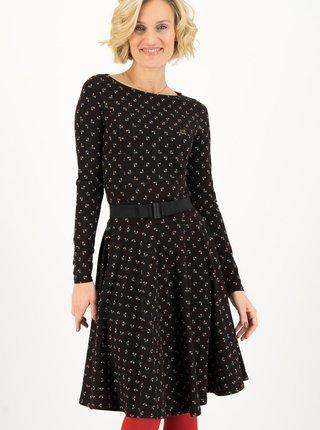 Čierne dámske vzorované šaty Blutsgeschwister Lady Like