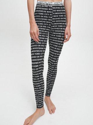 Černé dámské vzorované legíny Calvin Klein