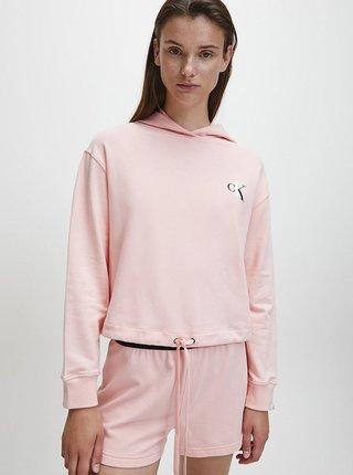 Růžová dámská mikina s kapucí Calvin Klein
