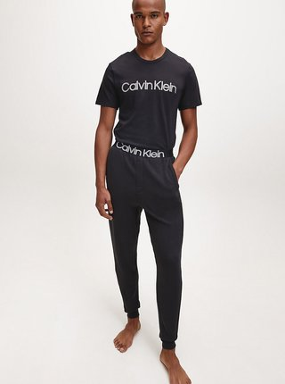 Čierne pánske tričko s potlačou Calvin Klein