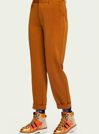 Hnědo-oranžové dámské kotníkové boty Scotch & Soda