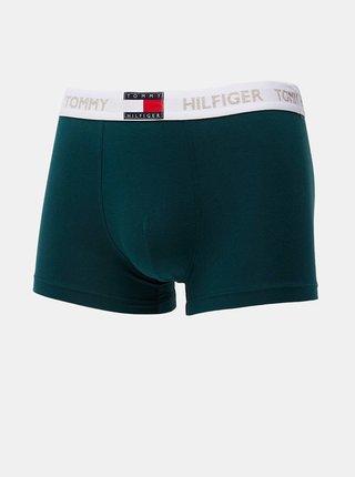 Tmavě zelené pánské boxerky Tommy Hilfiger Trunk
