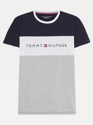 Tričká s krátkym rukávom pre mužov Tommy Hilfiger - sivá, tmavomodrá
